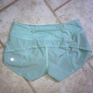Lulu Lemon Speed Up Light Blue Shorts Size 2